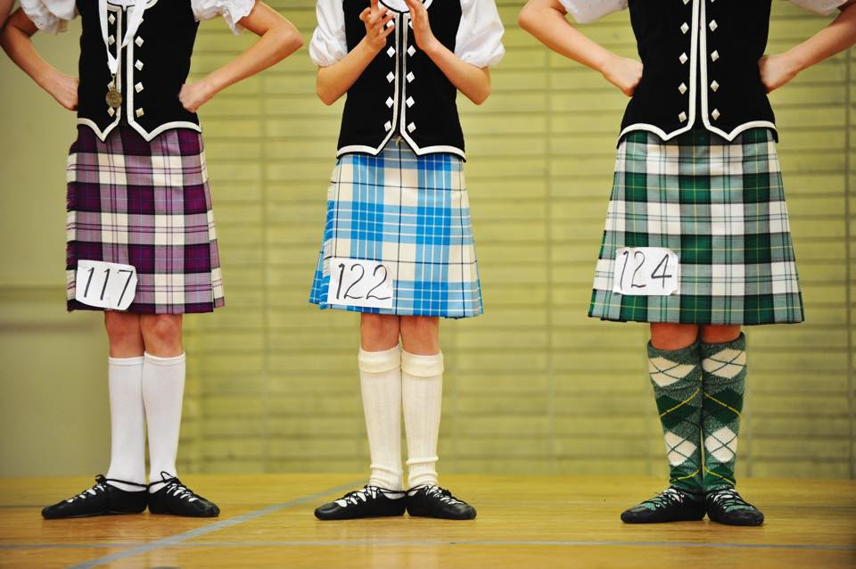Highland Dance Feet in Line