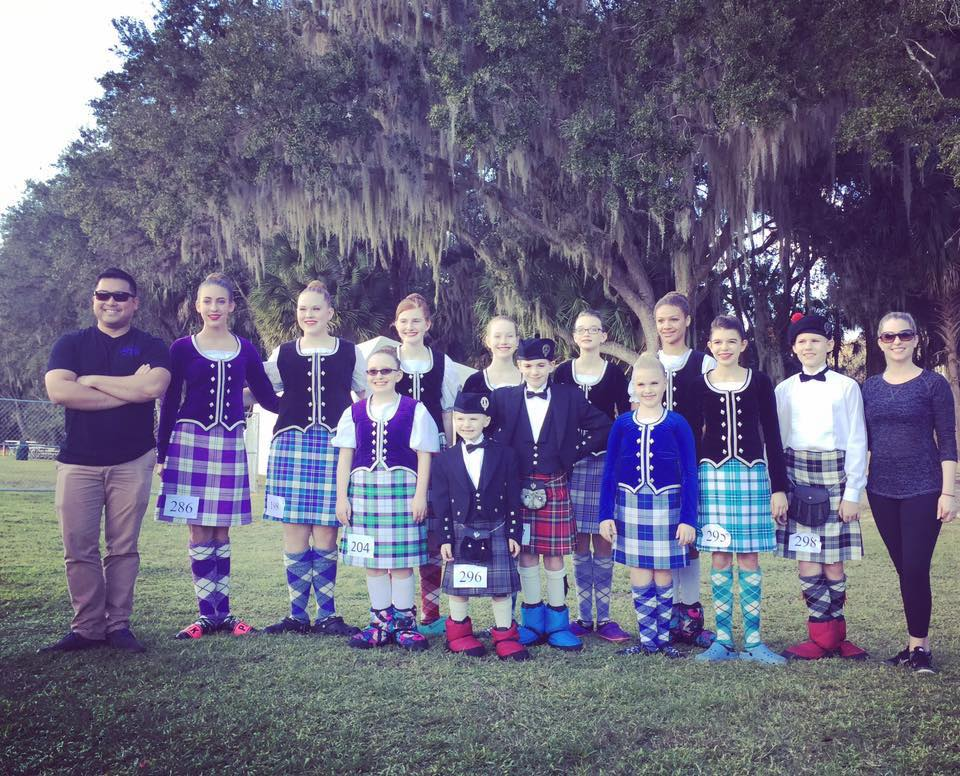 tampa bay highland dancers group photo