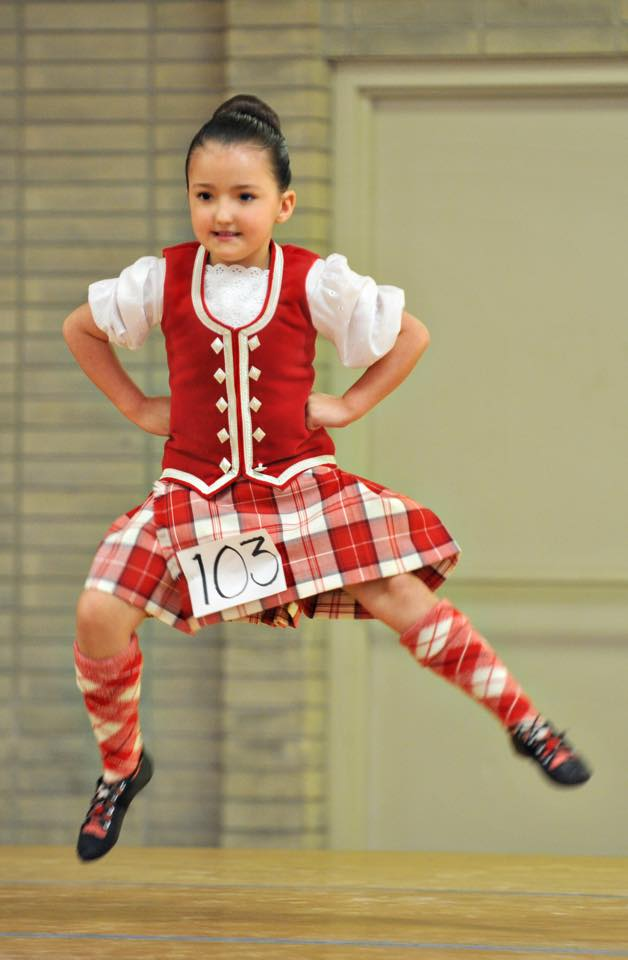 Highland Dance Girl Jumping